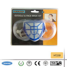 HT230 2pcs safety goggle and filter mask set
