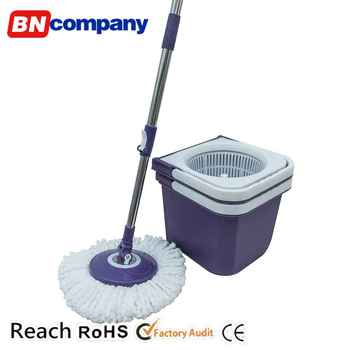 Household Cleaning Tools Plastic 360 Degree Bucket Floor Twist Mop