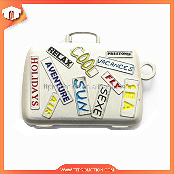 New design bag shape blank souvenir key ring with keychain