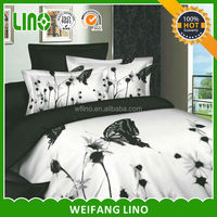 custom printed bed sheets/dandelion printed bedding set/bed sheets with dog print