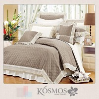 100% polyester satin lace bed cover