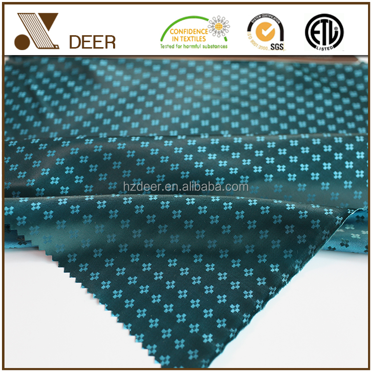 100% Polyester Woven Clothing Satin Dobby Design Fabric Color Chart