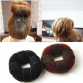Black n Brown Bun Sponge Hair Roller/Meatball Head Hair Clip Hair Nun Maker,Soft 'N Style Hair Donut Black,Hair Bun Maker