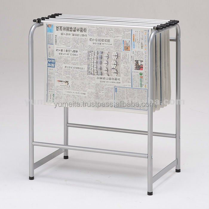Japanese High-Quality Metal Tube Rack Simple Newspaper Holder Stand