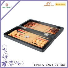 travel game wooden chess backgammon