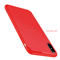 DFIFAN For iphone 10 Chinese Red Matte tpu Case Cover Mobile Phone Back Cover Cases for iPhone x
