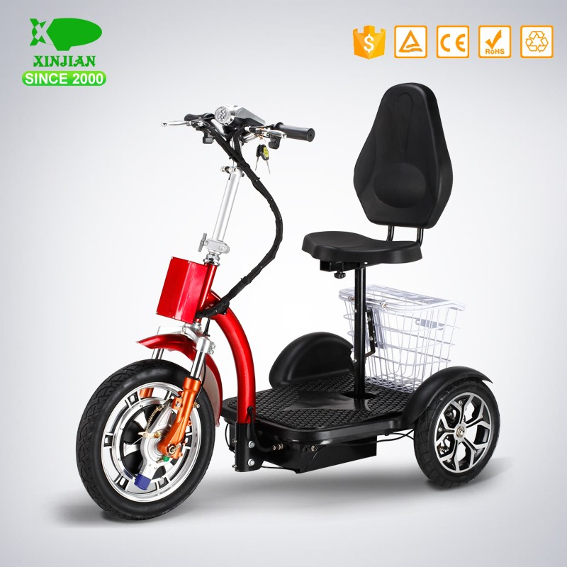 electric tricycle with lithium battery standing