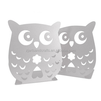 Metal White Cheap Owl Bookend
