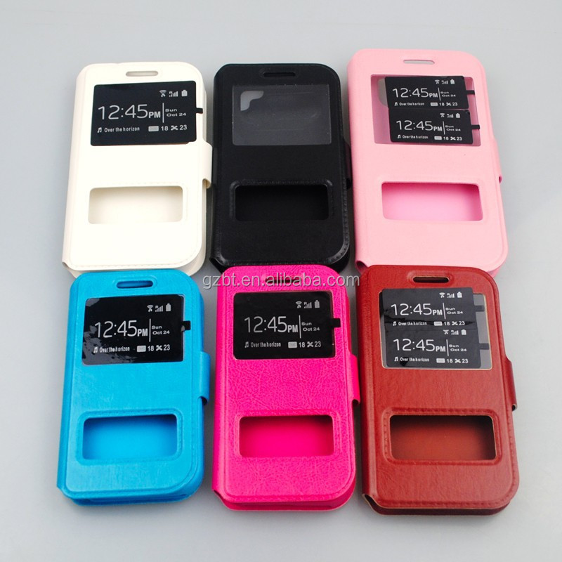 Made Of PU And Silicone Cell Phone Case For htc d600 Leather Button Mobile Holder