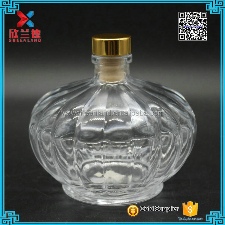 Beautiful design 240ml oval style aroma reed diffuser bottle