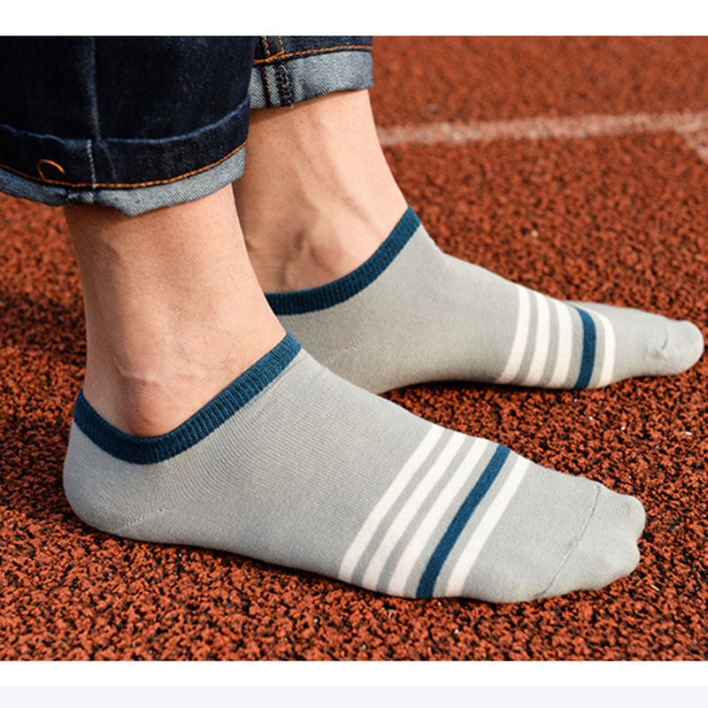 Men Fashion Casual Stripes Ankle Socks