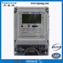IC Card DDSY986 multi-tariff Prepaid Electric kwh Meter with Infrared and RS485 Function