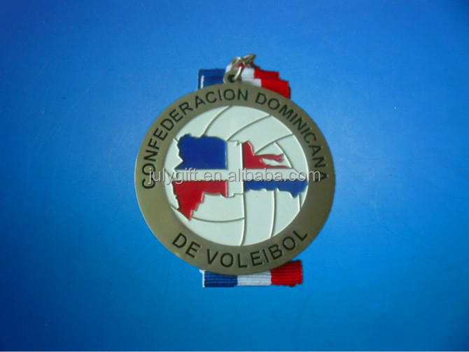 custom st christopher medal with ribbon