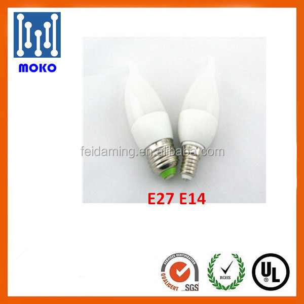 Good quality E14 E27 LED Candle Light, epistar 3w 4w 5w 6w LED Candle Bulb