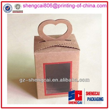 Kraft Paper Box,Paper Packing Box,Craft Paper Packaging Box With Window
