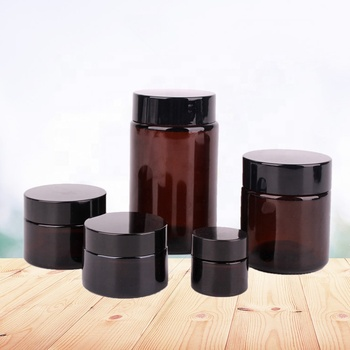 Chinese supplier 210ml amber glass bottle 7 oz frosted essential oil glass jars