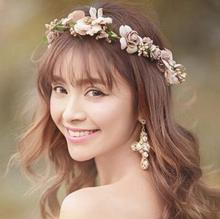 The Fisherman Hat Straw Wreath <strong>Accessories</strong> Flower Crown Festival Headband Wedding Floral Garland Hairband