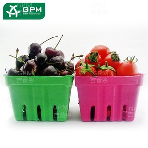 Wholesale Recycle Paper Eco Friendly Biodegradable Molded Paper Pulp Fruit Tray