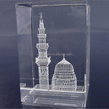 new products K9 glass cube/blocks 3d laser engraved crystal building