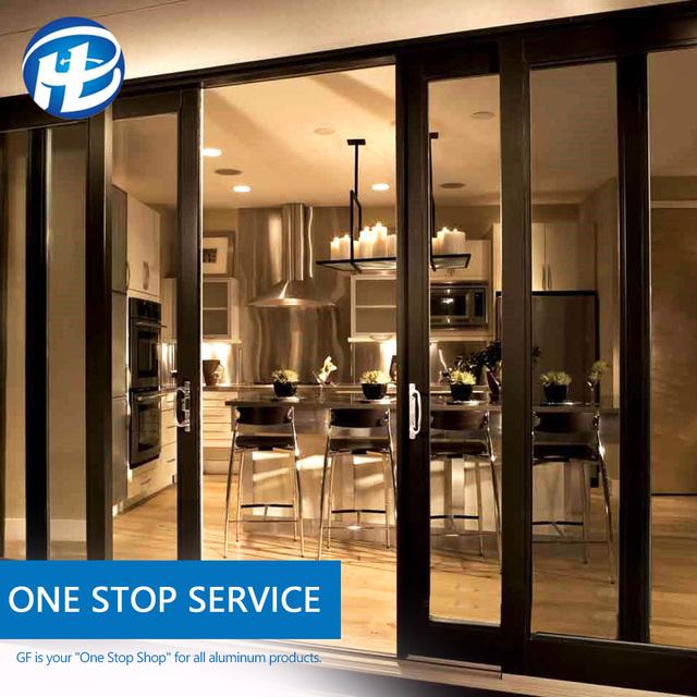 cheap industrial aluminium balcony sliding doors standard size anodised brown aluminium doors