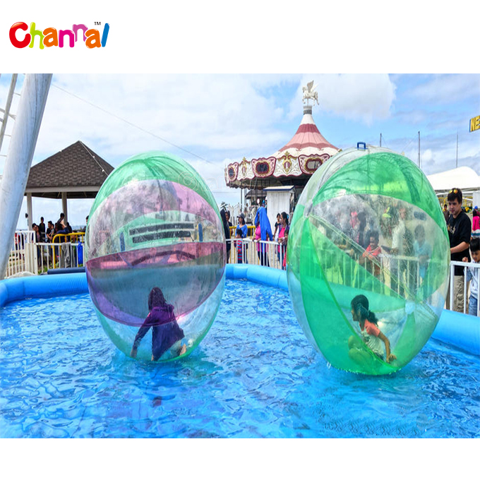 PVC/TPU inflatable water walking ball inflatable mix color water ball