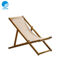 Outdoor wooden deck beach chair