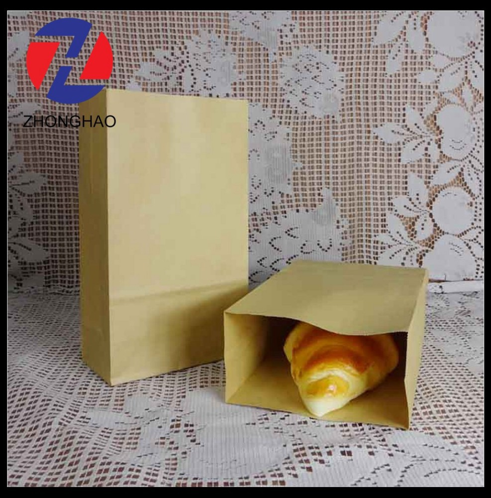 new arrived plain brown recycled without handle blank custom made Square Bottom Paper Bags