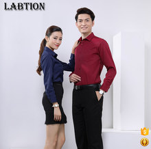 long sleeve custom business shirts wine red business shirts online white color business casual shirts
