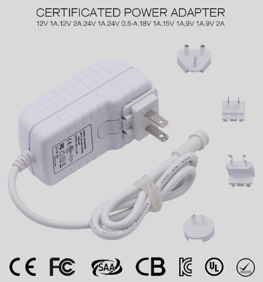 Universal AC Power Plug World Travel Adapter Converter 12V 1A 2A 3A Multi Plug Adapter