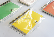 pvc transparent loose leaf A5 A6 hole cover diary notebook sleeve
