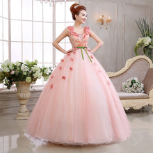 2018 Newest Pink Strapless Stage Audition Ball Gown High Quality Stage Host Solo Wedding Dresses