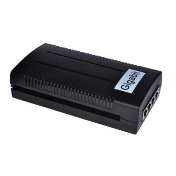 10/100/1000Mbps Gigabit IEEE 802.3af 15.4W 2-port PoE Injector Adapter