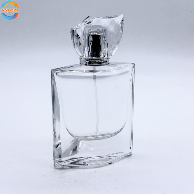 special design cosmetics perfume glass bottle spray atomizer scent diffuser bottle with cap