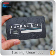colorful printing embossed black aluminum metal business cards
