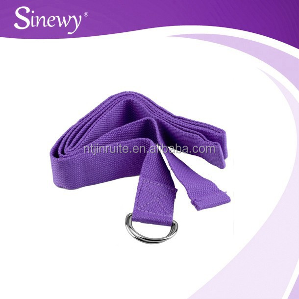 cheaper cotton cheaper ankle yoga strap with Metal D-Ring
