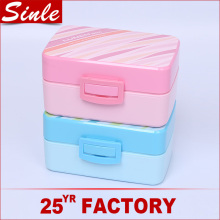 Japanese design food grade pp plastic bento lunch box leakproof