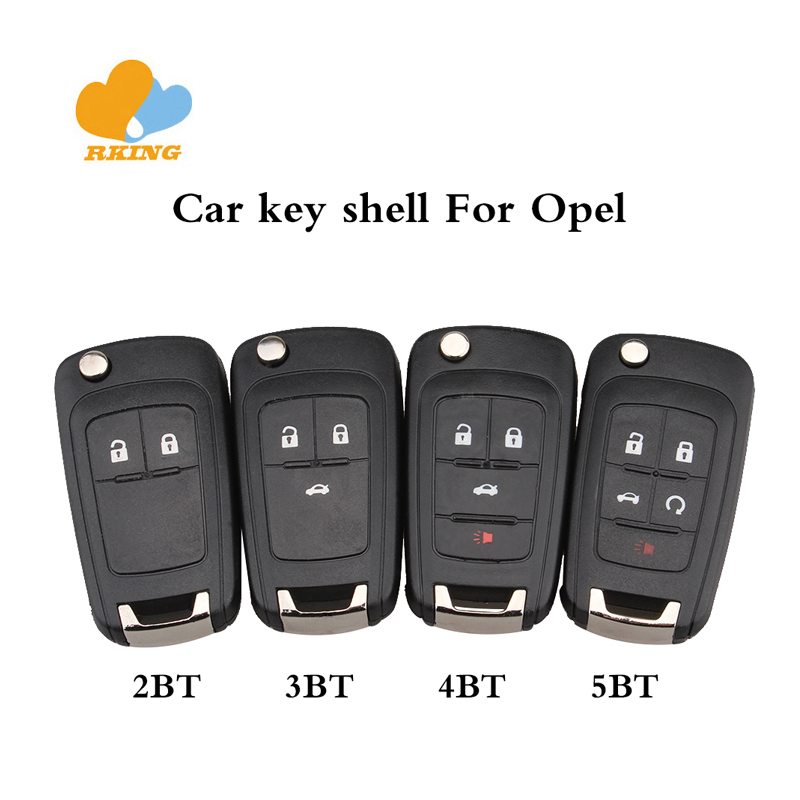 Replacement Car Key Case Shell fit for OPEL VAUXHALL Flip Car Remote Key 2 3 4 5 Button