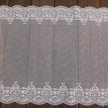 hot sale nylon 92% spandex 8% white fancy lace and ribbon for suit