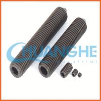 china supplier cup point slotted set screws