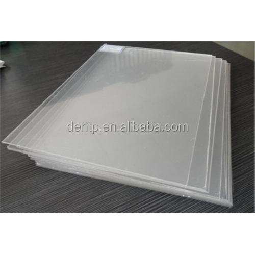 PVC material dental transparent vacuum forming machine sheet/hard or soft resin sheet from maunfacturer/splint