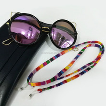 Multi colored bulk polyester cord sunglass eyeglass sports glasses strap eyewear holder retainer
