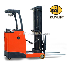 3 stage mast stand type electric reach stacker forklift from china