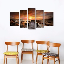 Canvas Print Wall Art Painting For Home Decor 5 Pieces Panel Pictures Stretched And Framed Artwork Oil