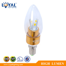 CE ROHS 12v-240v indoor 360degree high power warm white small mini glass e14 smd 2w 3w 4w led candle light