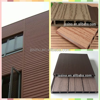 Exterior Wall Cladding With Wpc Wall Panel Plastic Composite Wall Siding Pane