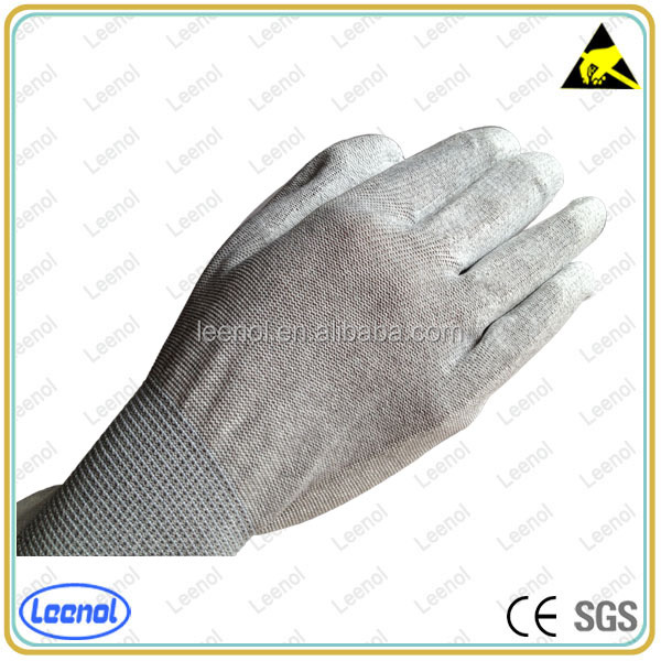 High Quality Seamless PU Fingertips Electric Conductive Glove