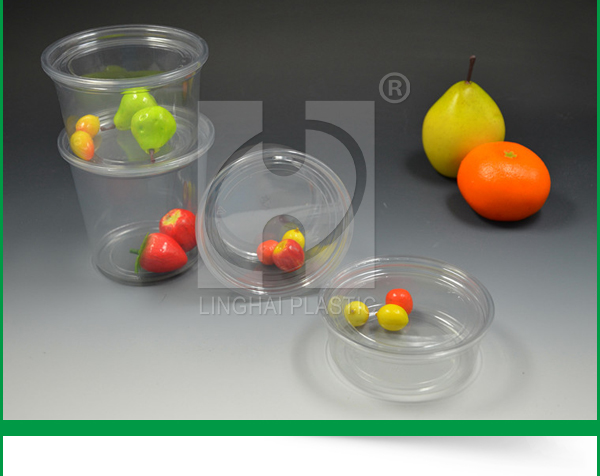 Disposable Plastic 16 oz Clear Plastic Round Deli Container