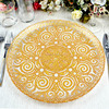 Decoration Gold Silver Glass Charger Plates Wholesale