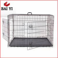"24"" 30"" 36"" 42"" 48"" Large Outdoor Metal Dog Cage, Metal Folable Pet Cage"