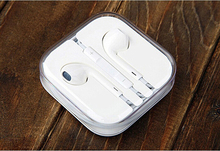 White earphone with mic and free sample offered